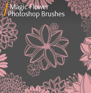 free photoshop Pencil brushes magic flower photoshop brushes cover